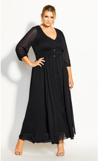Love Affair Maxi Dress - black