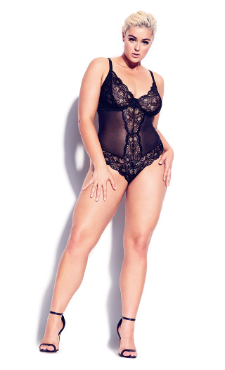 Kiki Mesh Body - black