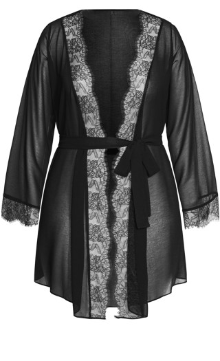 Becca Short Robe - black