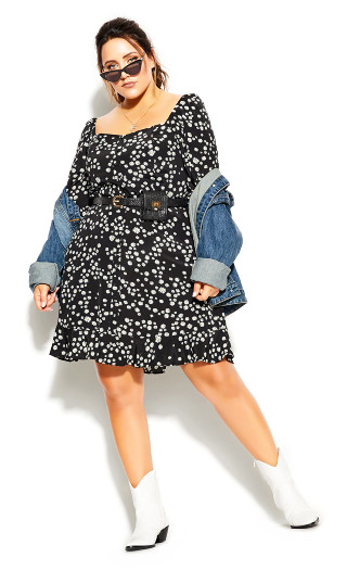 Miss Daisy Dress - black