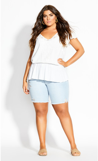 Fiesta Fun Top - ivory