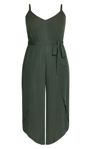 Tropic Tie Jumpsuit - jungle