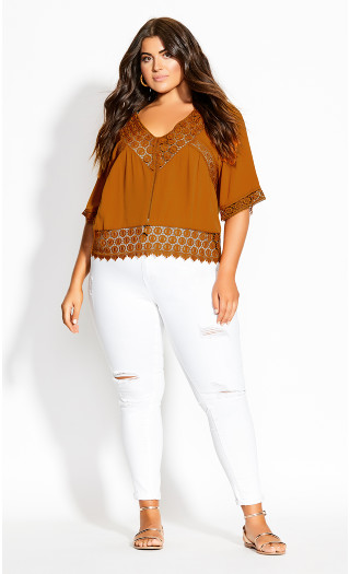 Cute Crochet Top - spice