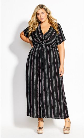 Knot Romance Maxi Dress - black