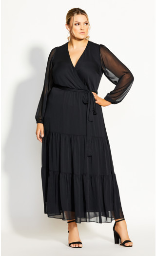 Elegance Maxi Dress - black