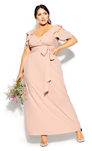 Frill Treasure Maxi Dress - pink
