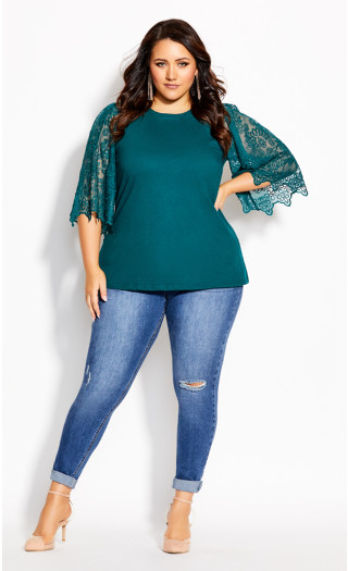 Embroidered Angel Top - alpine