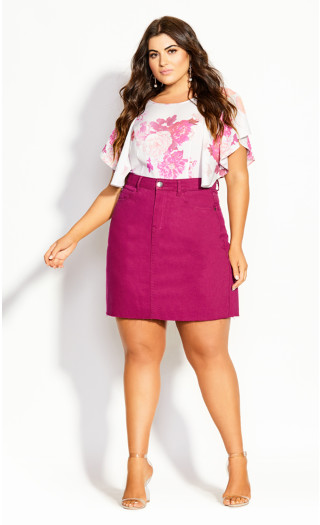 Cute Mini Skirt - raspberry