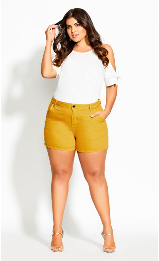 Breeze Denim Short - zinnia