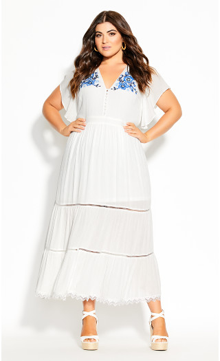 Summer Sunset Maxi Dress - ivory
