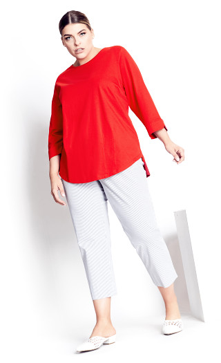 Ally Tuck Tee - red