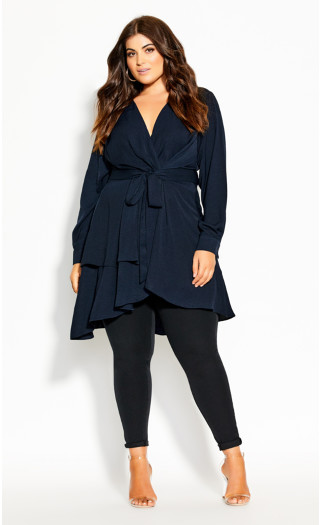 Soft Touch Tunic - navy