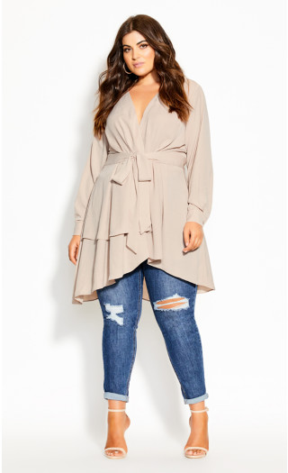 Soft Touch Tunic - sand