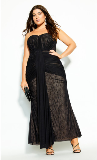 Secret Desire Maxi Dress - black