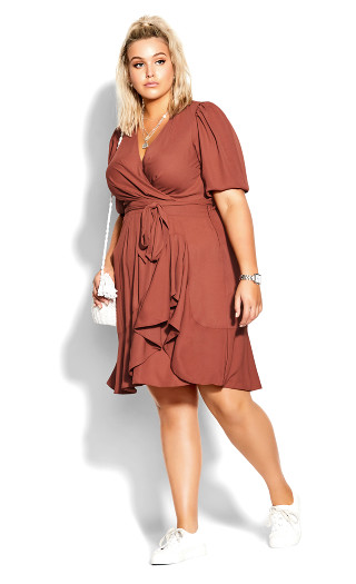 Captivate Dress - cinnamon