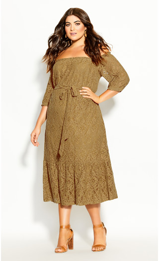 Time Lace Dress - whisky