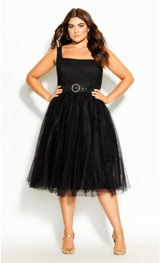 Whimsy Fun Dress - black
