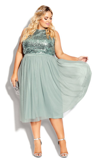 Tulle Star Skirt - topaz