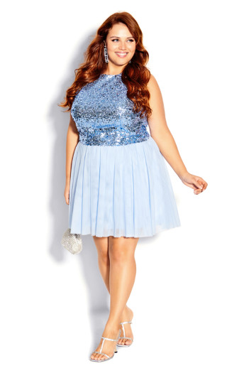 Be Dazzle Top - baby blue