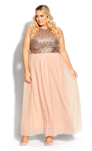 Shine Bright Maxi Dress - quartz