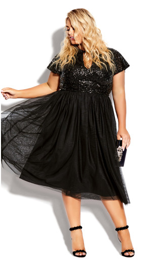 Sparkle Joy Dress - onyx