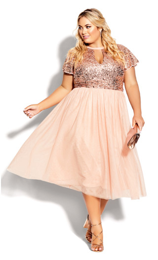 Sparkle Joy Dress - quartz
