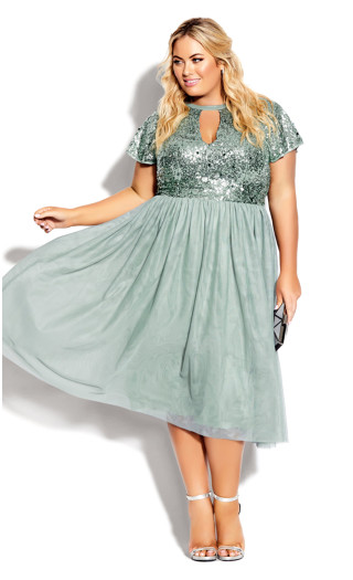 Sparkle Joy Dress - topaz