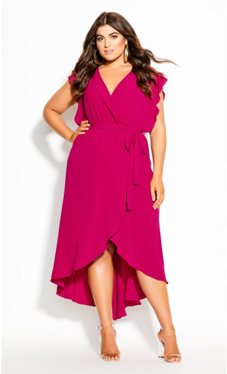 Romantic Mood Maxi Dress - magenta
