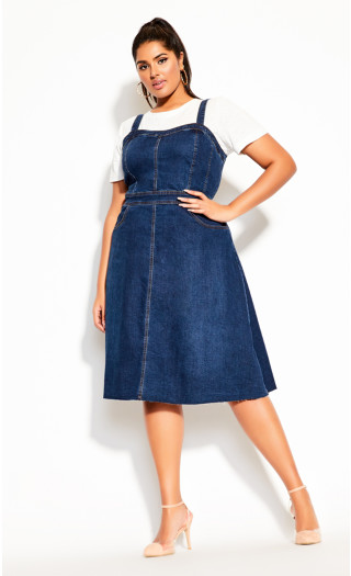 Sweet Denim Dress - denim