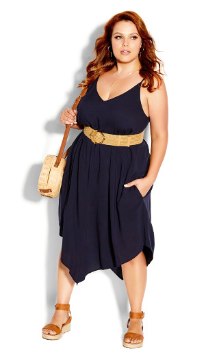 Sweet V Dress - french navy
