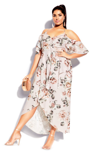 Champagne Rose Maxi Dress - blush