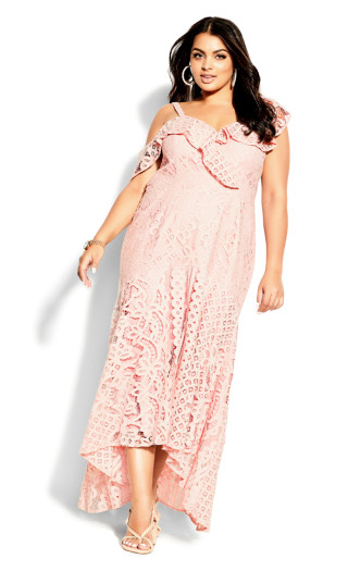 Femme Fatale Maxi Dress - blush