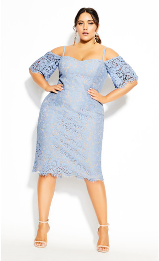 Lace Whisper Dress - sky