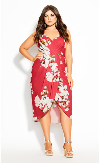Lotus Love Dress - raspberry