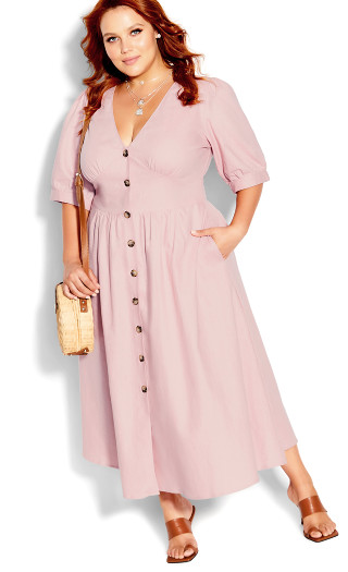 Sunset Stroll Dress - dusty rose