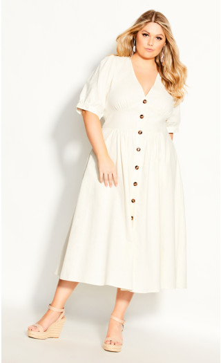 Sunset Stroll Dress - ivory