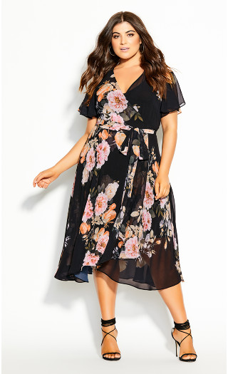 Tuscan Frill Dress - black