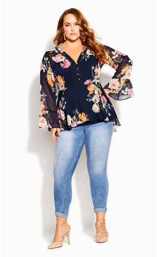 Florence Top - navy