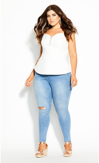 Sassy Class Top - ivory