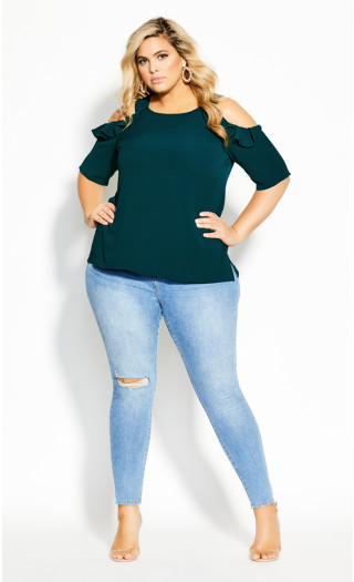 Wild Sleeve Top - jade