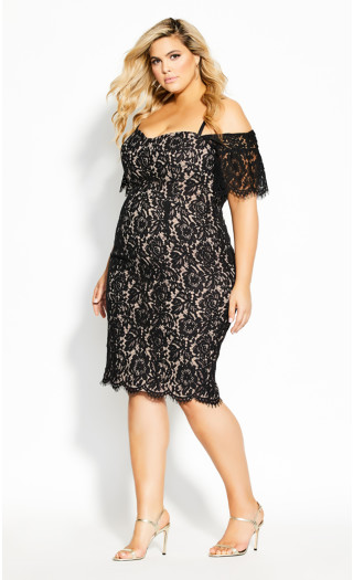 Lace Whisper Dress - black