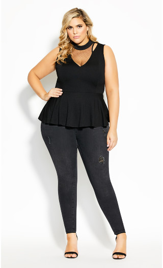 Lady Marmalade Top - black