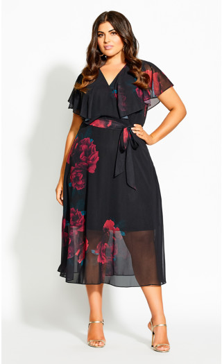 Rich Romance Dress - black