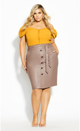 Pin Me Up Skirt - porcini