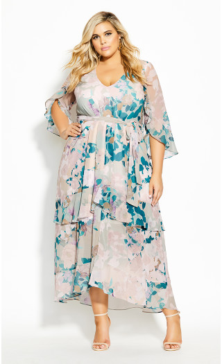 Dreamy Nights Maxi Dress - straw