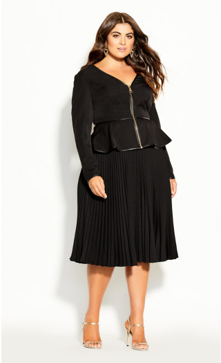 Sweet Plunge Jacket - black