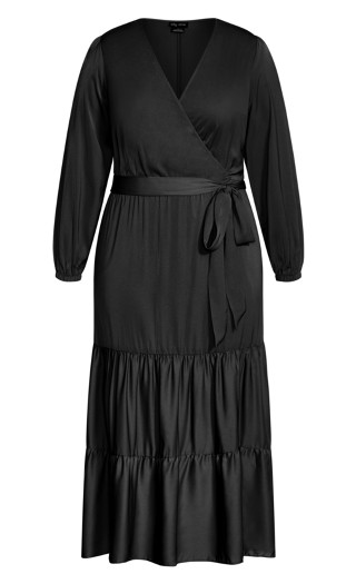Pretty Tier Maxi Dress - black
