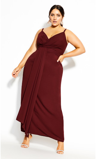 So Swish Maxi Dress - bordeaux