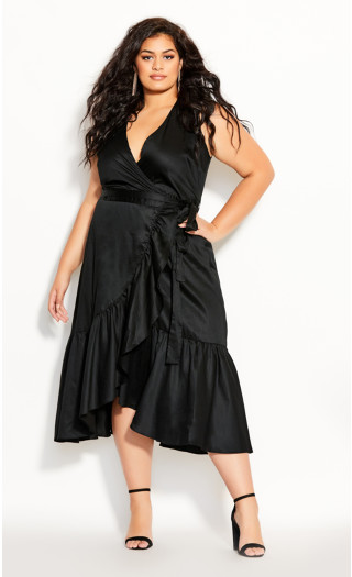 Ruffle Vibes Dress - black