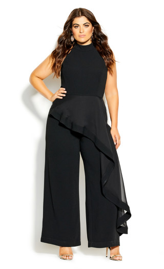 Waterfall Jumpsuit - black